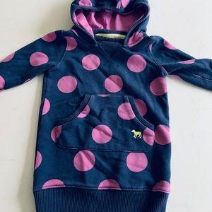 Mini Boden girls sweatshirt hoodie dress